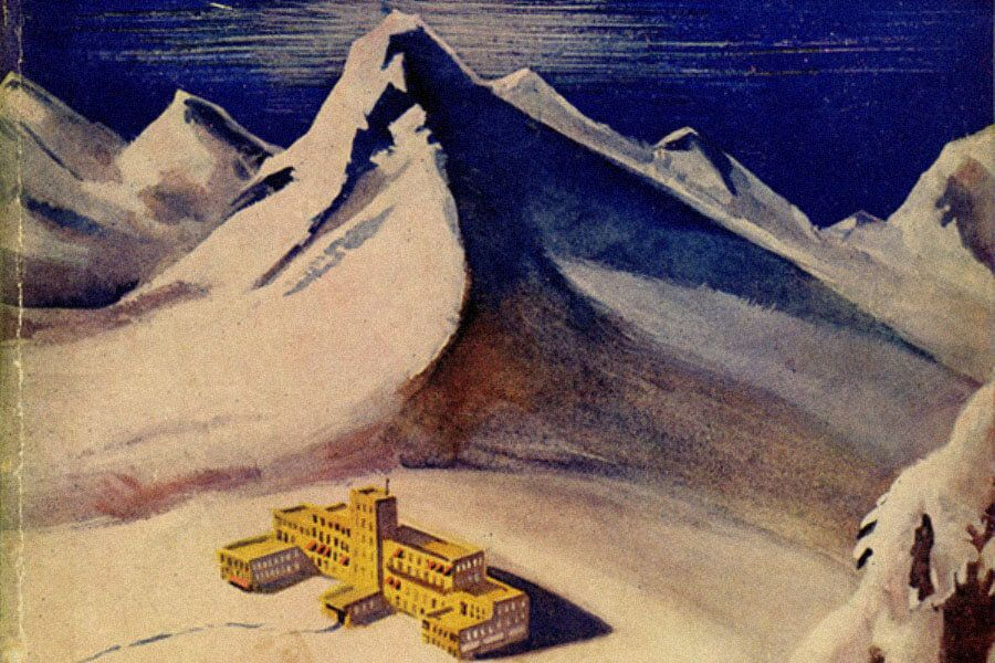 Фрагмент обложки книги Томаса Манна «Волшебная гора». Источник: pinterest.com