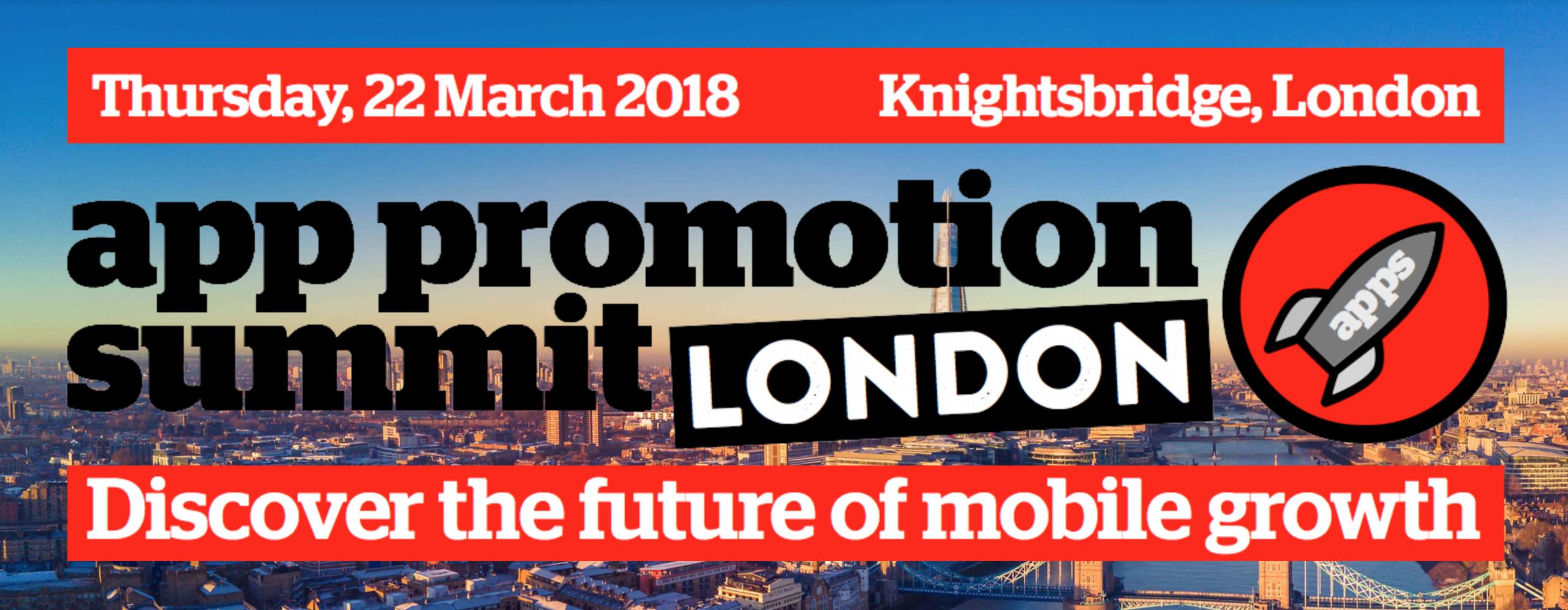 App Promotion Summit London 2018