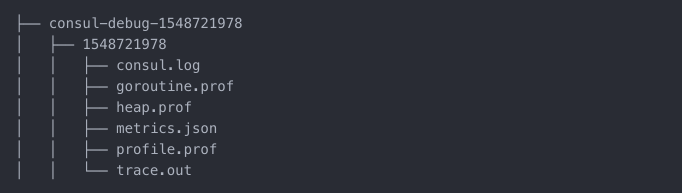 tree consul-debug output