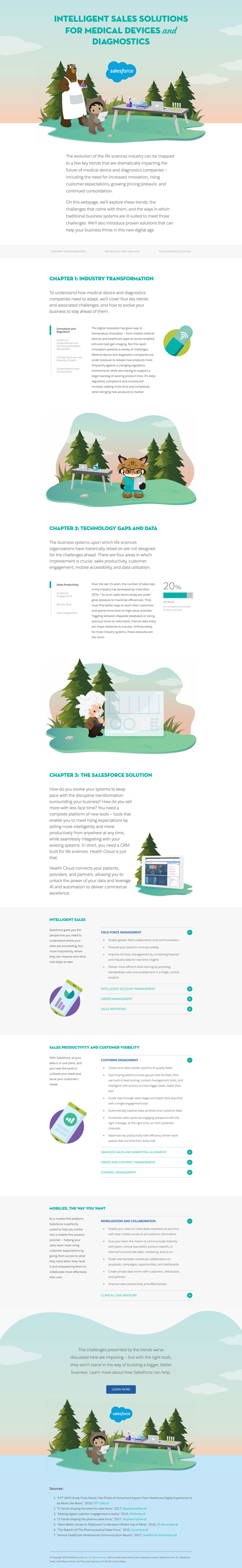 A screenshot of a Salesforce ebook, featuring Cody the bear and Astro holding laboratory equipment.