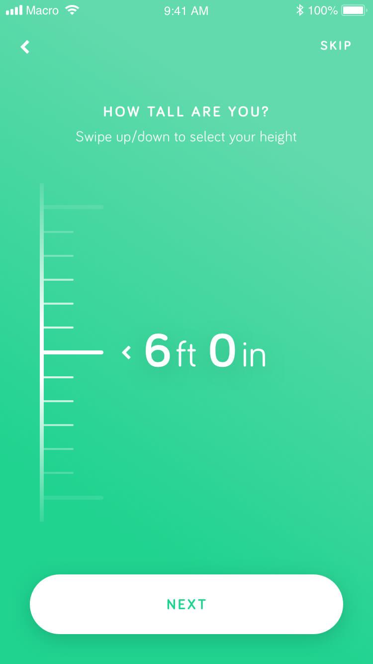A second Macro metrics screen