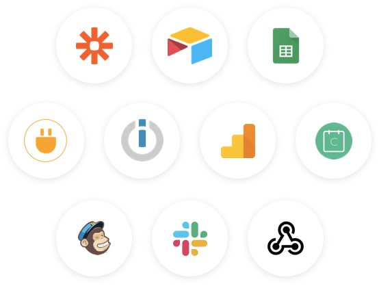 Connect Joonbot to your favorite apps using Zapier, our webhooks or Google Sheets.