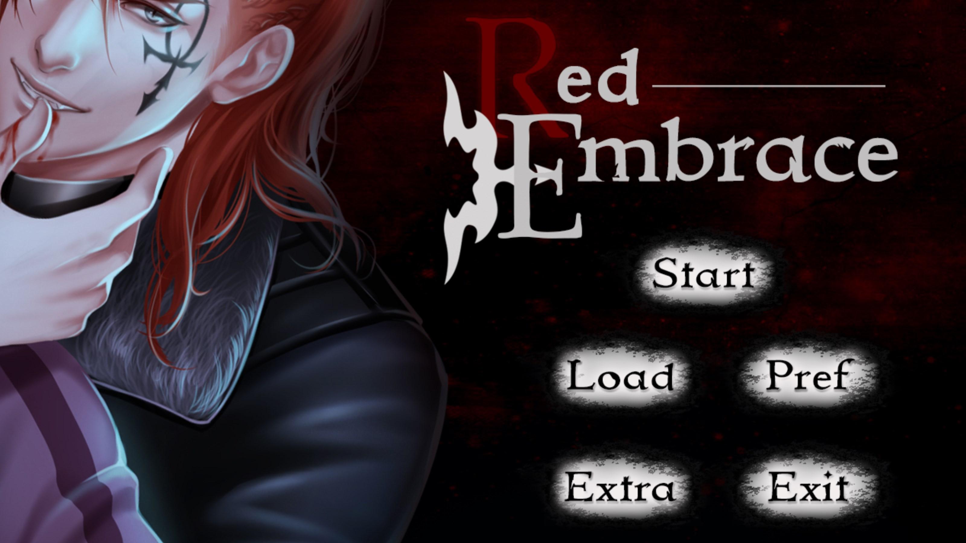 Red Embrace menu screen