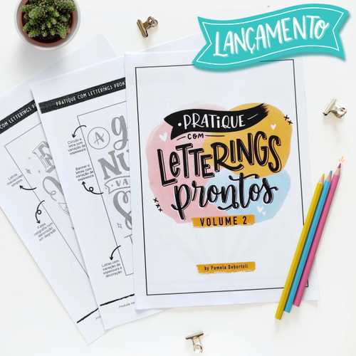 Capa Apostila Pratique com Letterings Prontos