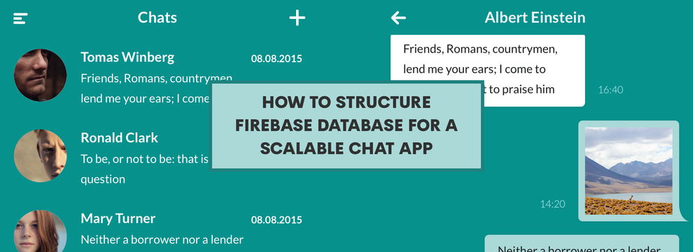 How to structure Firebase database for a scalable chat app