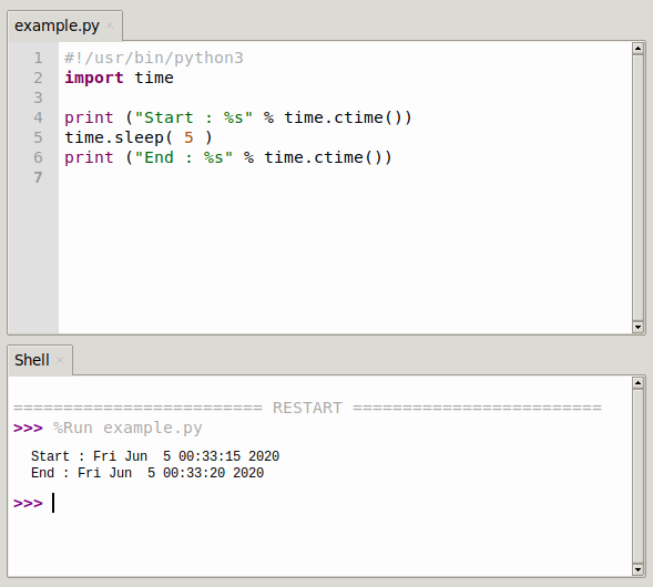 python time.sleep() method