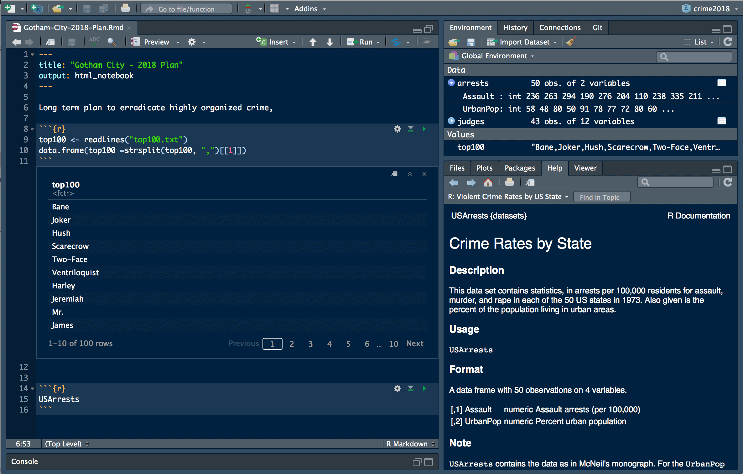 RStudio 1.1 Preview - I Only Work in Black