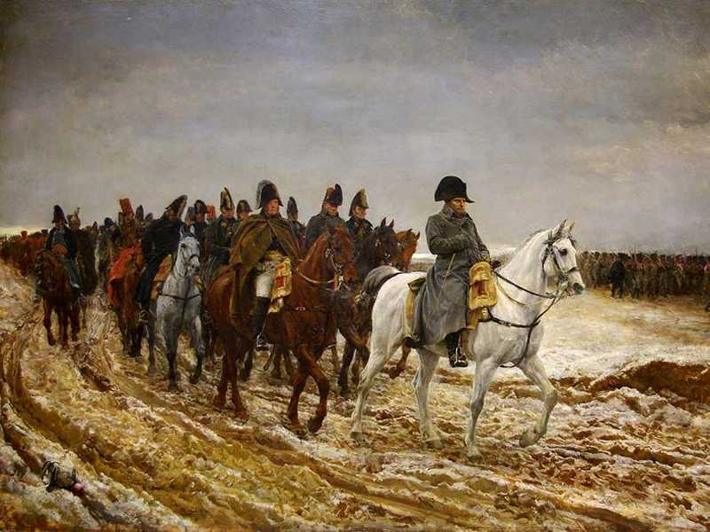 Ernest Meissonier's Napoleon I in 1814 shows the near-photographic style demanded by the Salon in the 1860s.