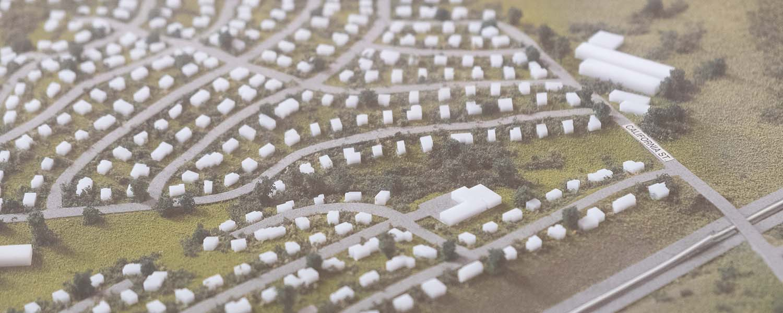 Model of a real estate development