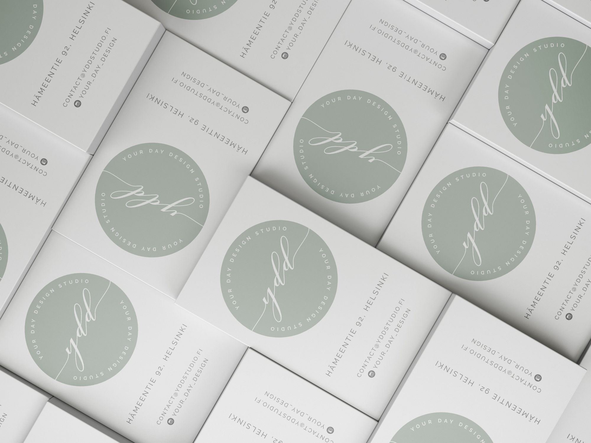 wedding styling company rebranding logo & business card item