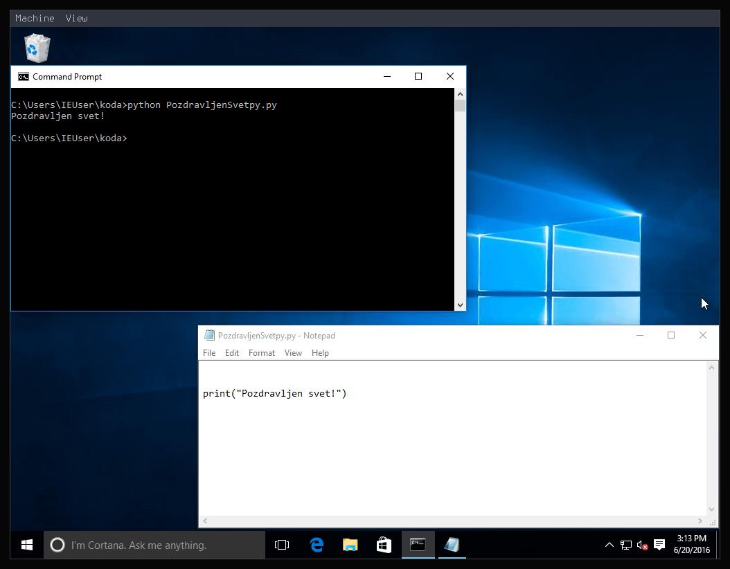 Slika 11: Windows 10 Python3