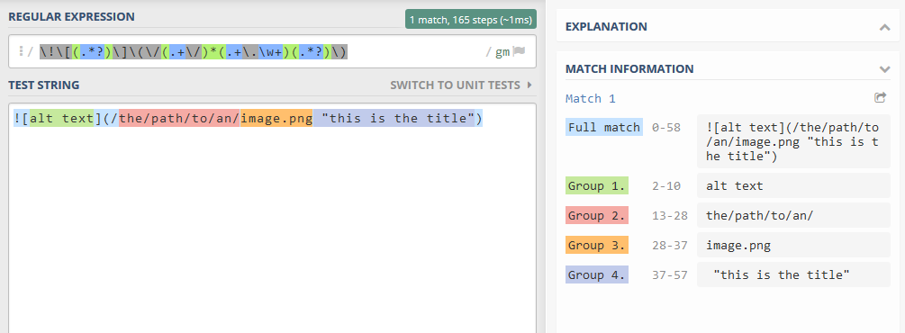 The regular expression in action