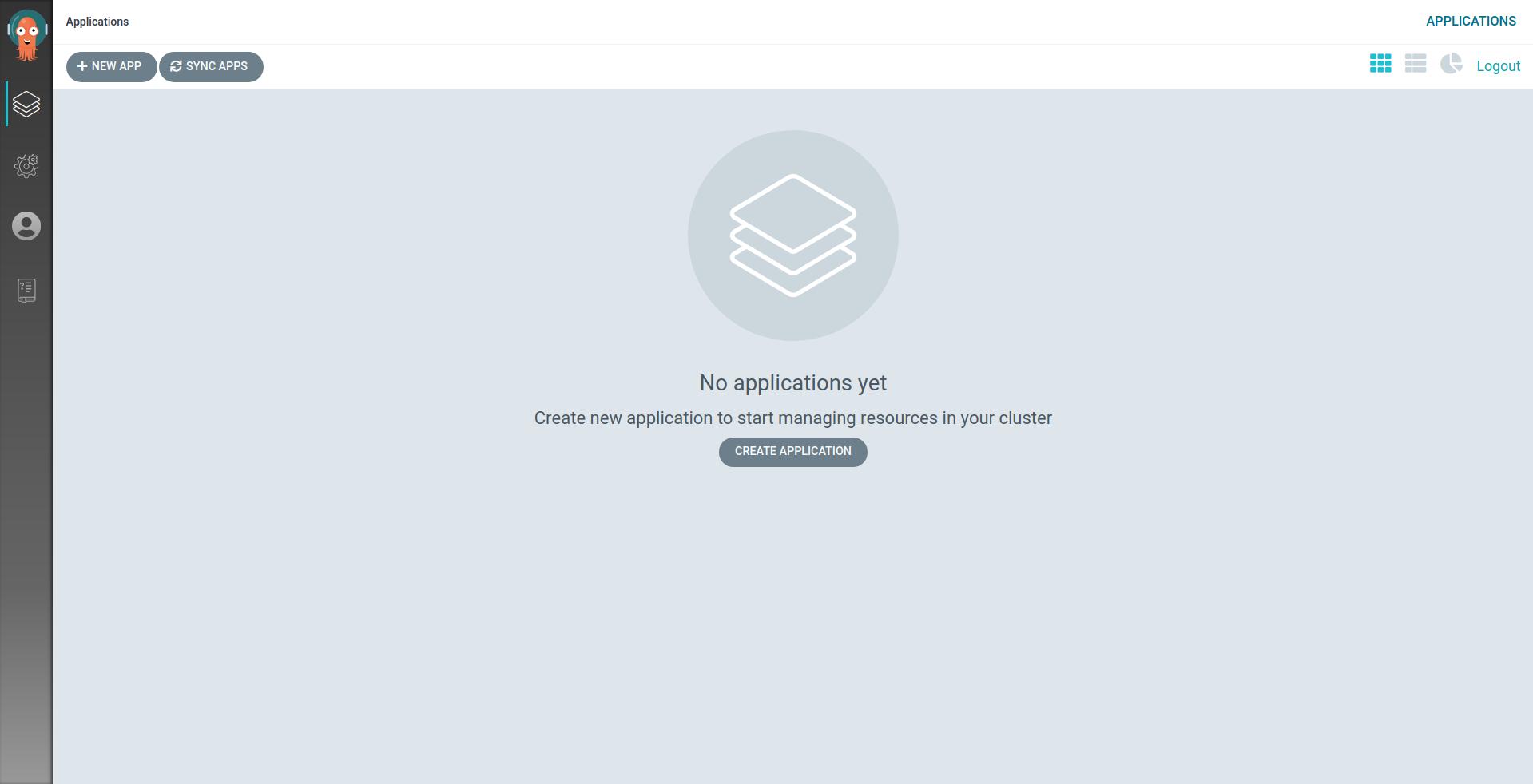 ArgoCD web GUI homepage