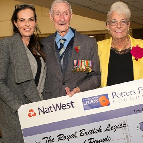 Potters Friends Foundation donates £1,000 to the Royal British Legion to celebrate war veteran's 100th birthday