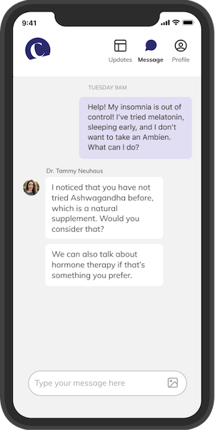 The Cusp app - chat