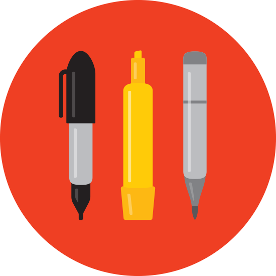 Design sketching sticker