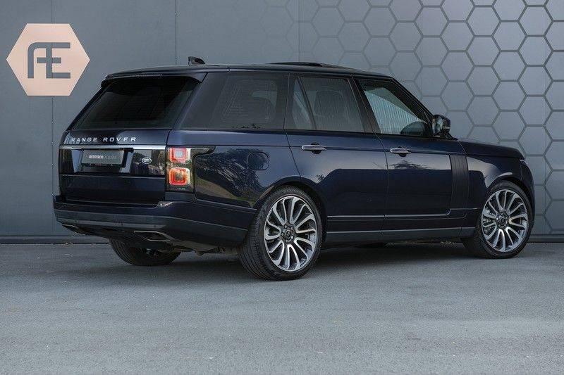 Land Rover Range Rover 5.0 V8 SC Autobiography Portofino Blue + Verwarmde, Gekoelde voorstoelen met Massage Functie + Adaptive Cruise Control + Head Up afbeelding 6