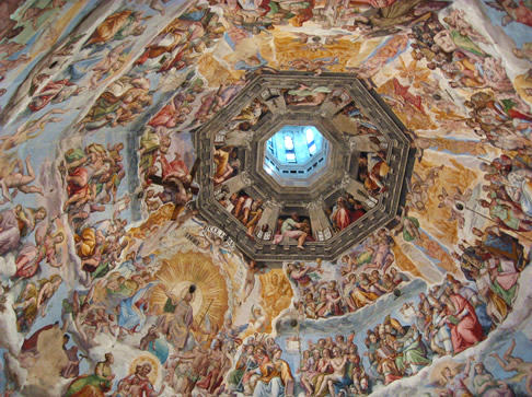 Freco depicting the Last Judgement, on the ceiling of the Dome of Santa Maria del Fiore, Florence