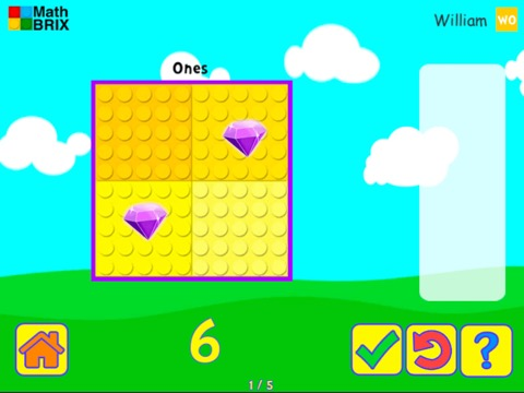 Minicomputer: Represent numbers up to 10 (dragging) Math Game