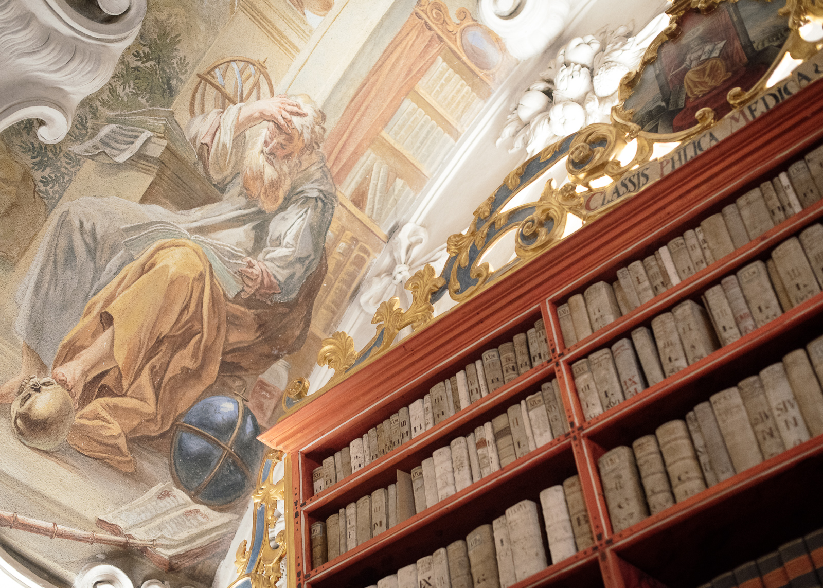 fresco in the theological hall of the strahov monastery library