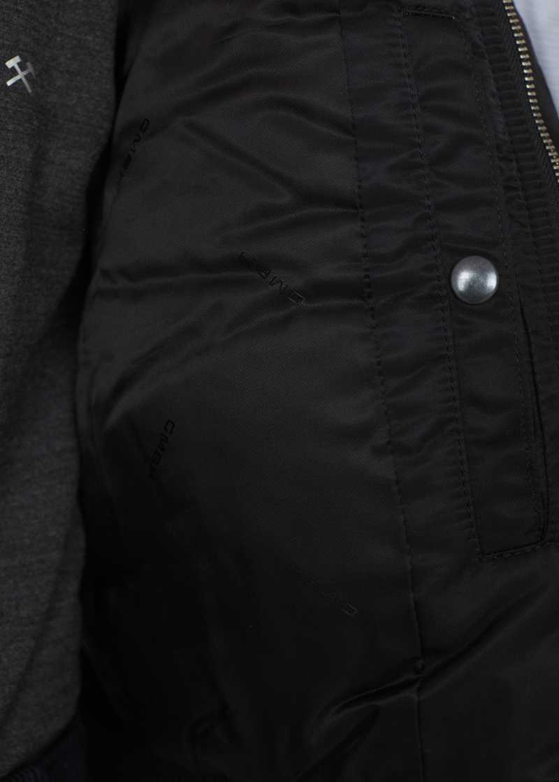 PREM GMBH AW19 PILOT JACKET BLACK INSIDE POCKET