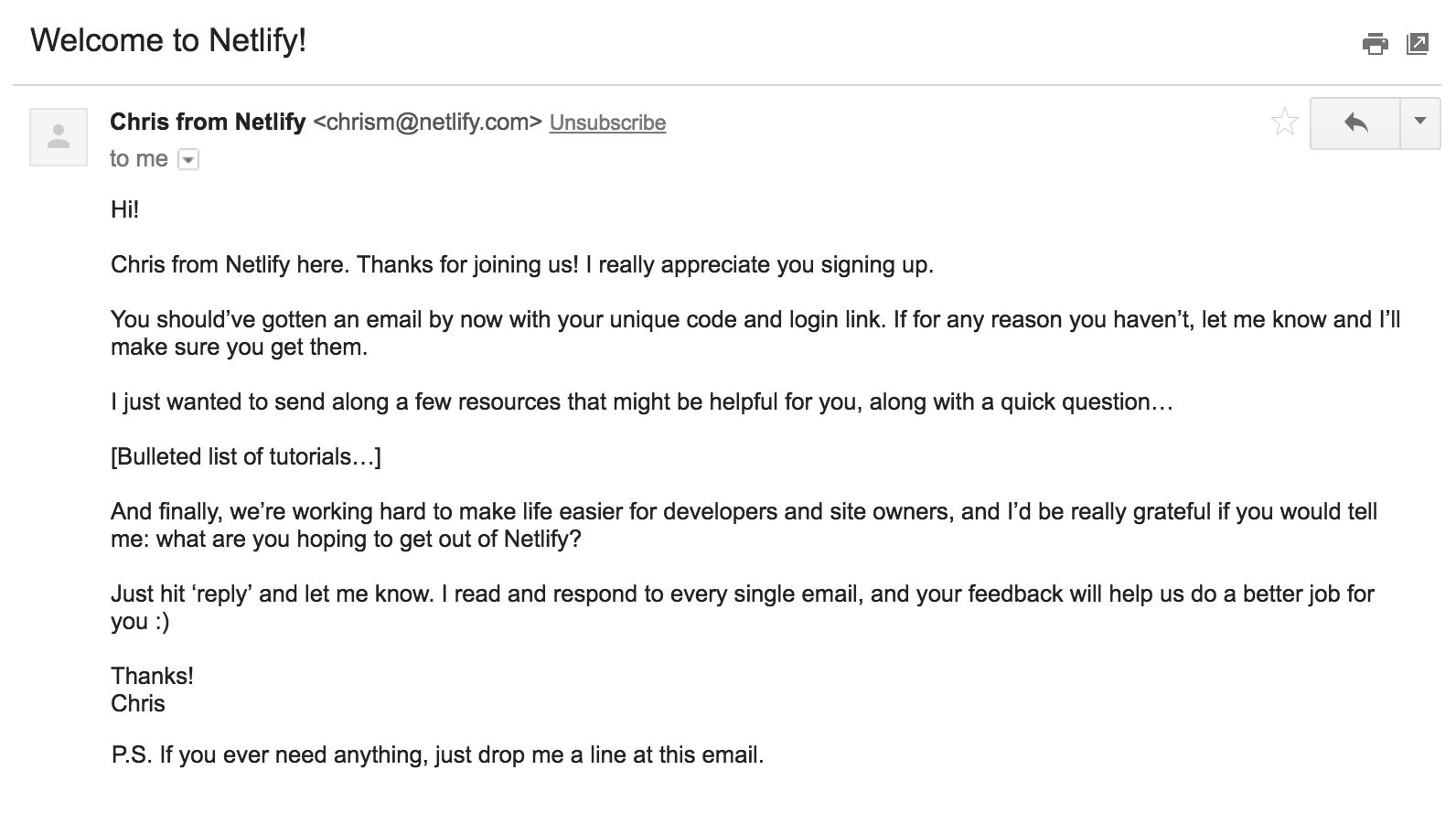 Long Onboarding Email