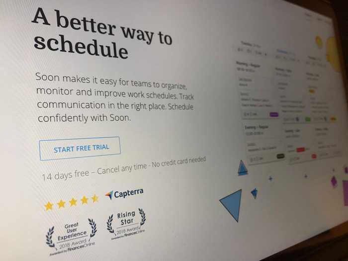 Soon: Employee Scheduling Software Named 2018 Business Software Rising Star-FinancesOnline.com