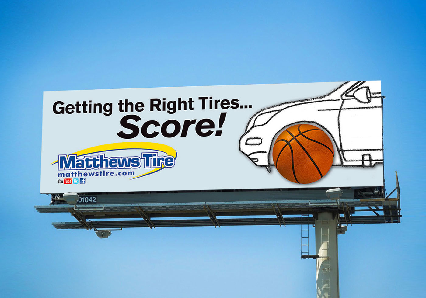 Matthews Tire Basketball Billboard