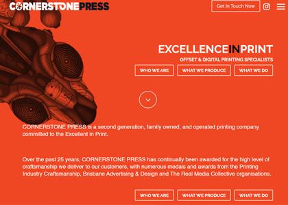 Cornerstone Press Website Screenshot