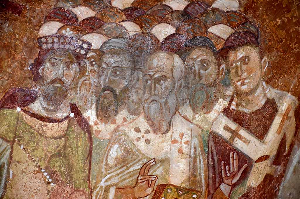 Fresco from church of St Nicholas, Demre, Southern Turkey