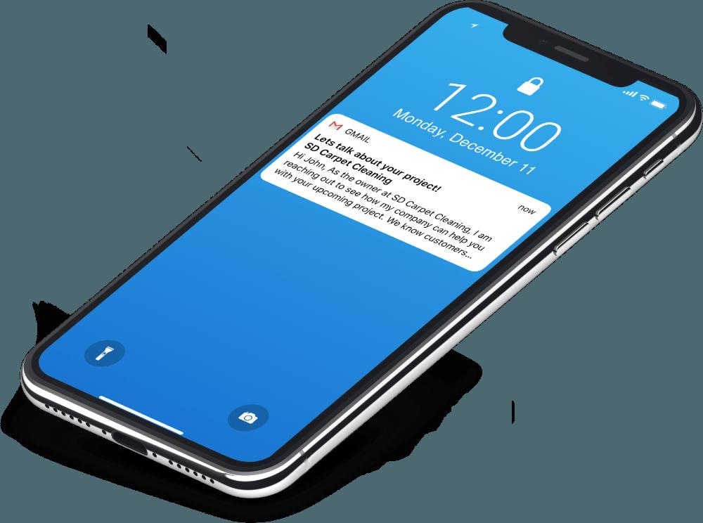 Lead Responder phone view