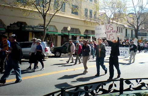 Iraq War Demonstration on University Avenue, Palo Alto
