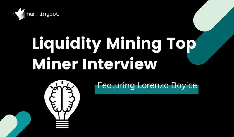 Top liquidity miner interview featuring Lorenzo Boyice