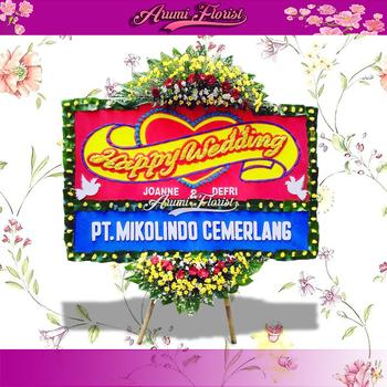 Bunga Papan Happy Wedding 24
