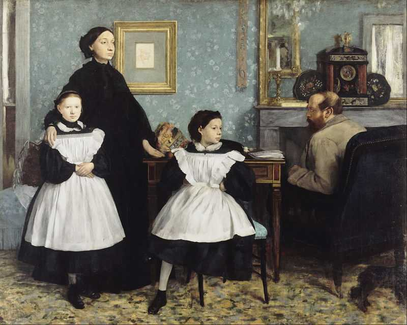 The Bellelli Family, also known as Family Portrait, is an oil painting on canvas by Edgar Degas (1834–1917), painted in ca. 1858–1867 it echoes the clean, academic style of the great Ingres himself.