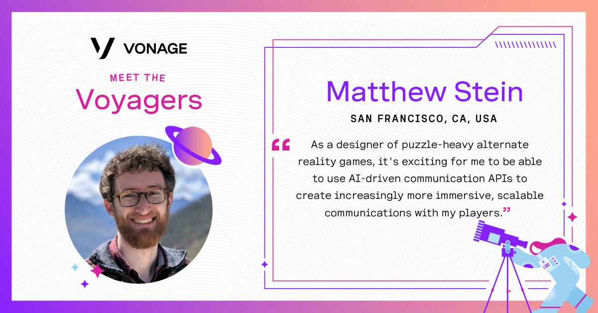 Matthew Stein's Voyagers Card