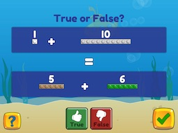 Compare two number sentences (addition only) Math Game