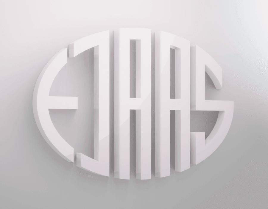 3D illustration af Ejaas logo