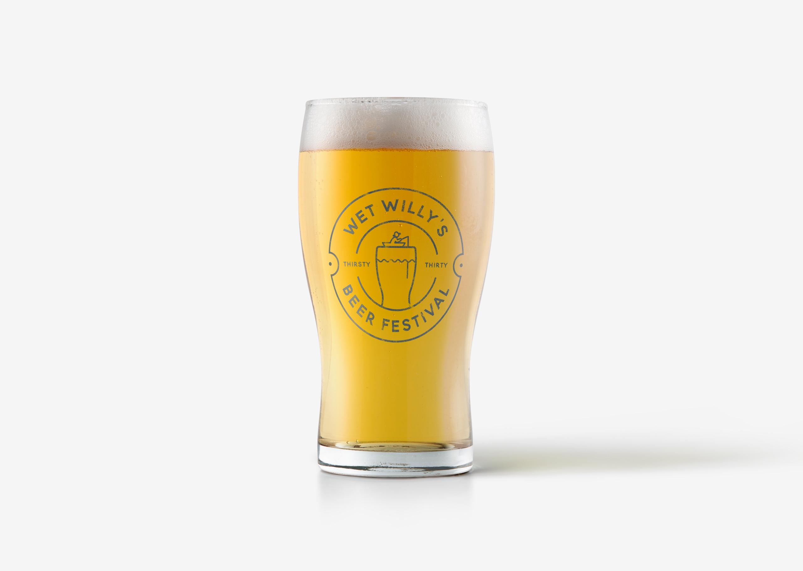 Beer glass design for Wet Willy's Beer Festival