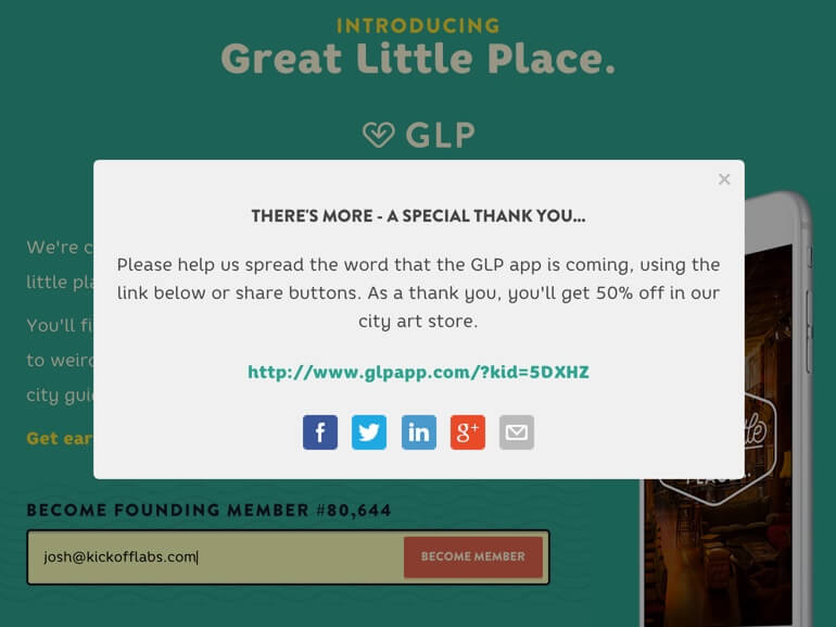 GLP Signup Page