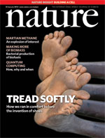The cover of the 'Nature' journal for Jan 2010