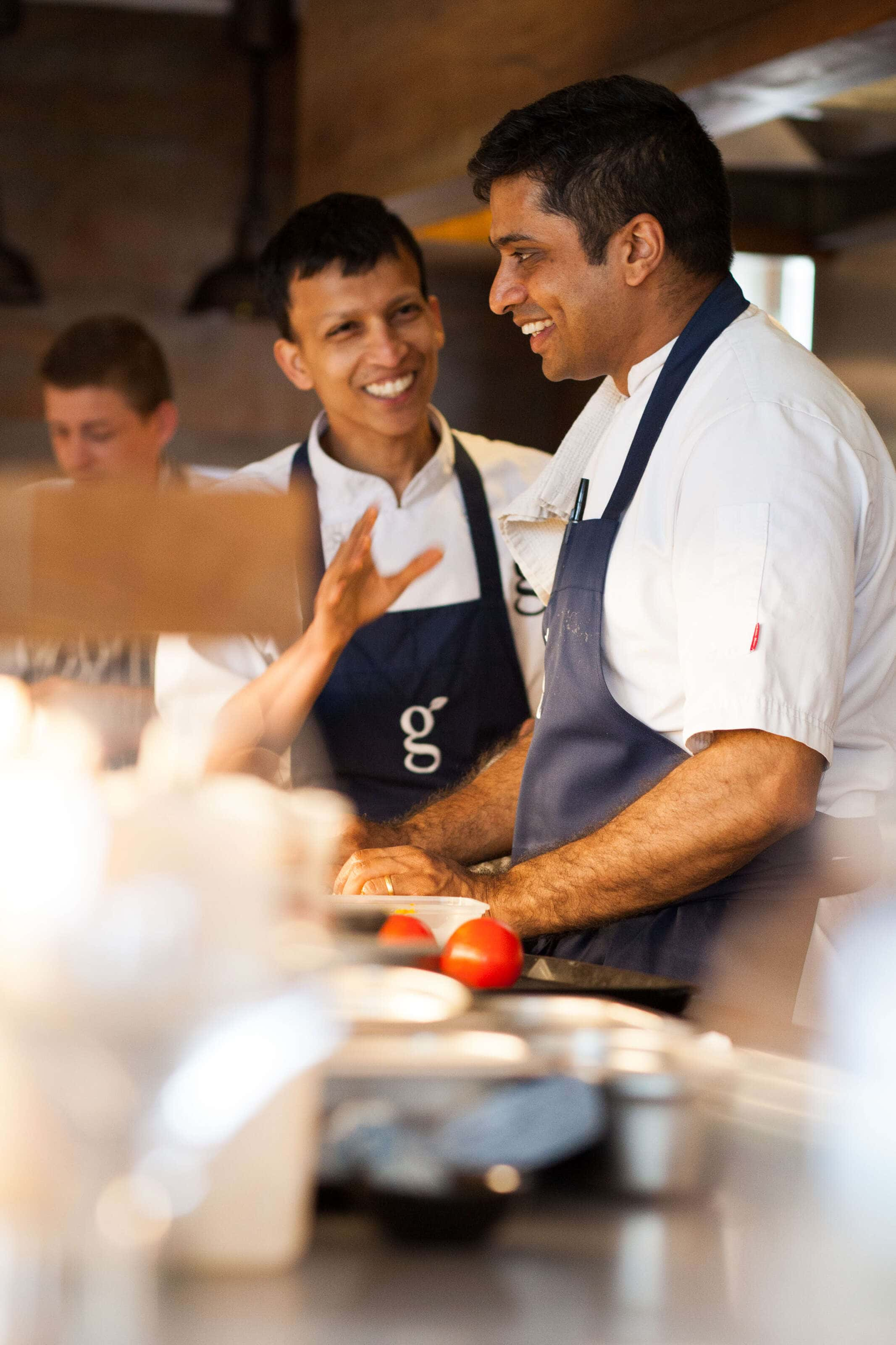 Portrait head chef Hrishikesh Desai at Gilpin Lakehouse in Cumbria