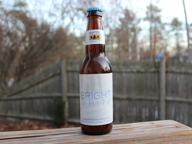 Bright White, a Belgian-Inspired Wheat Ale brewed by Bell's Brewery