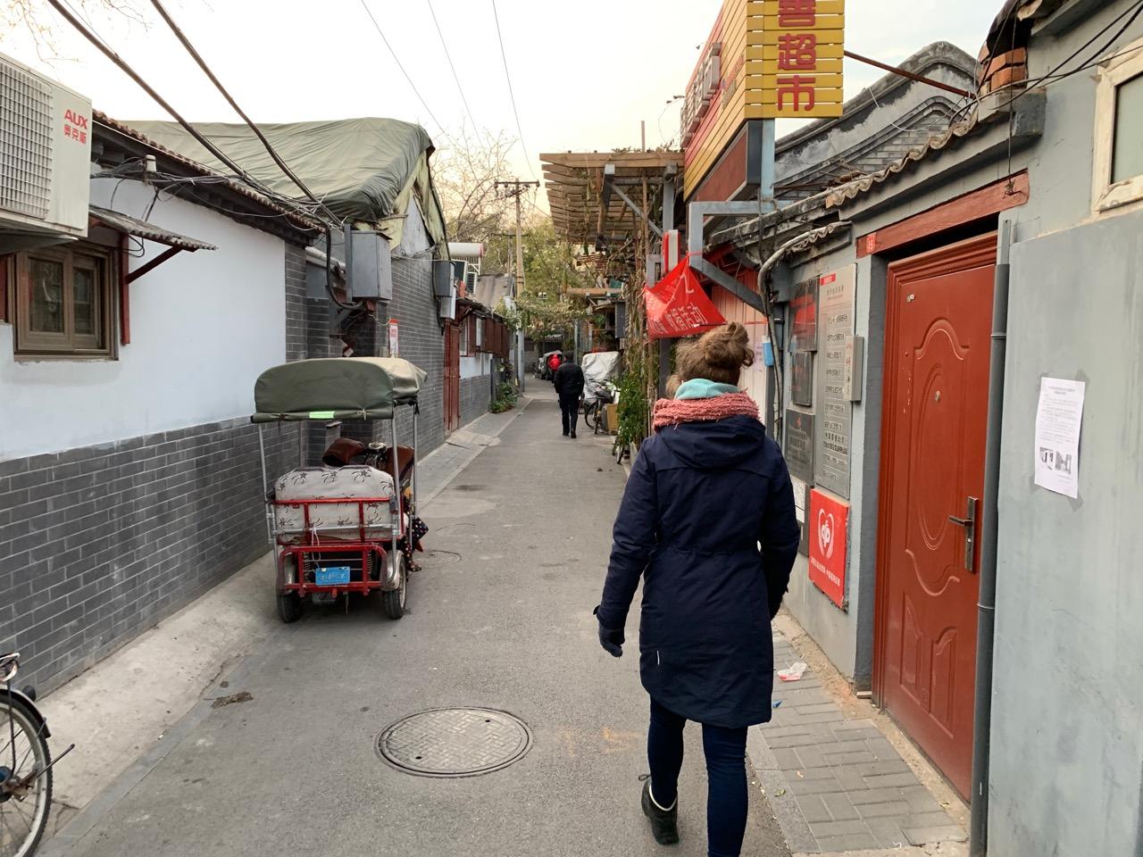 Een smal straatje in een Hutong