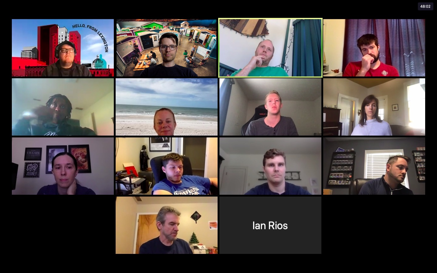 Bootcampers on a Zoom call