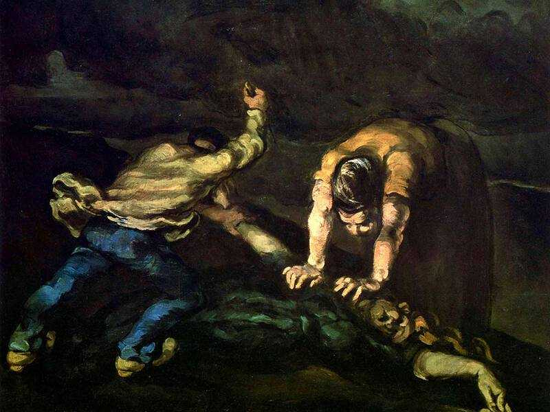 Cezanne's 'dark period' is characterised by a number of brutal paintings, including The Murder