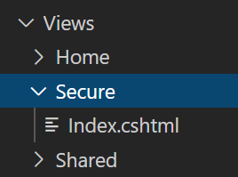 Add secure index view