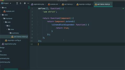 Add or override UI Component methods