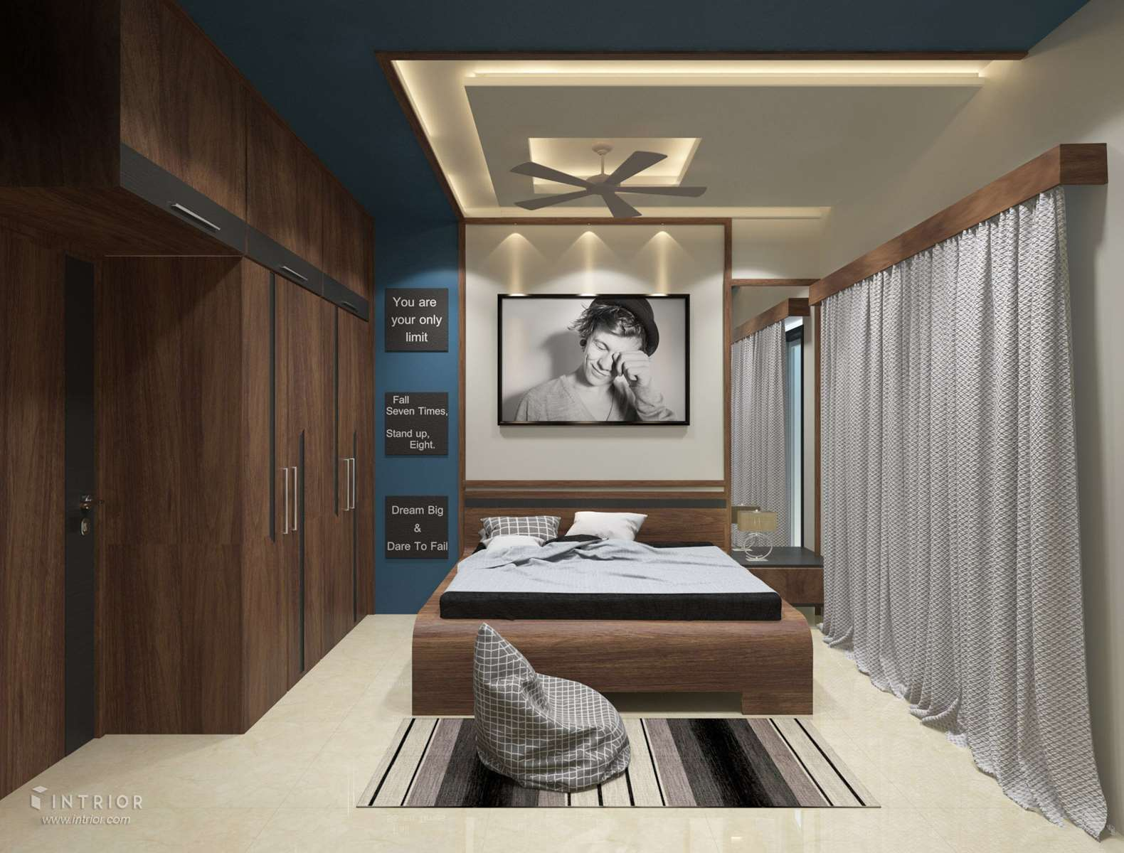 bed false ceiling