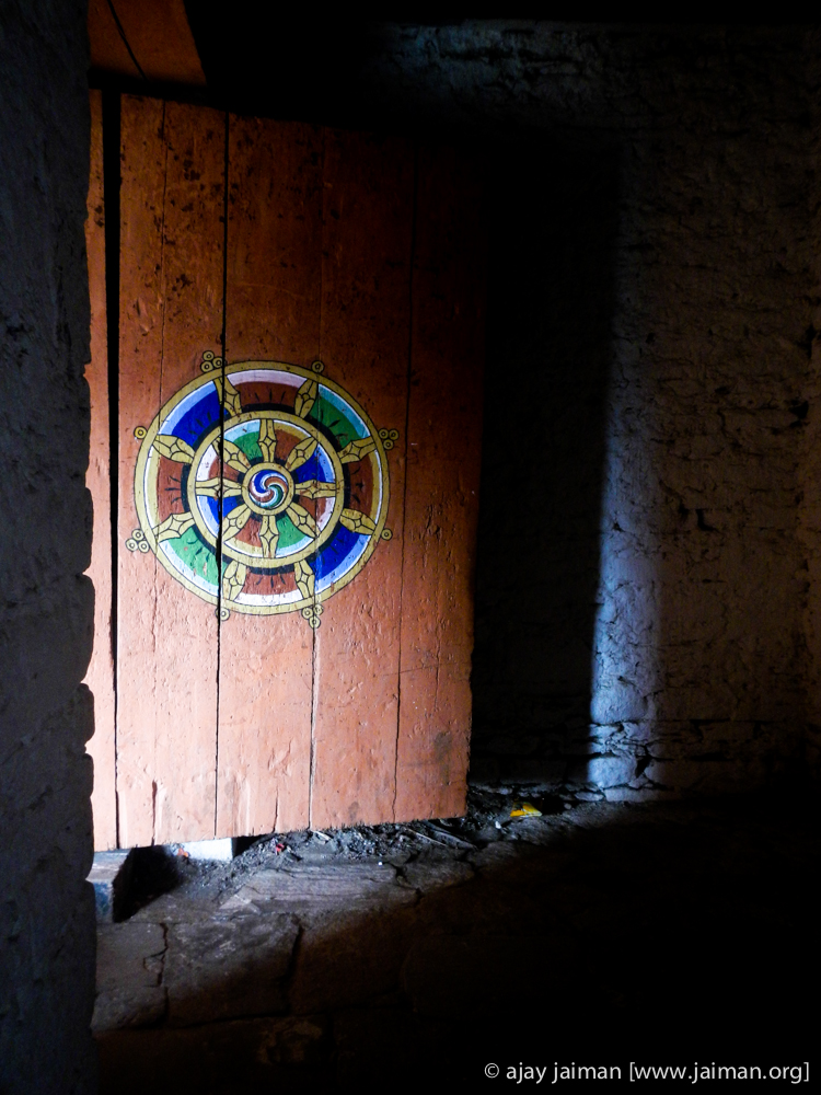 Inside Jakar Dzong - a major monastery in Bumthang